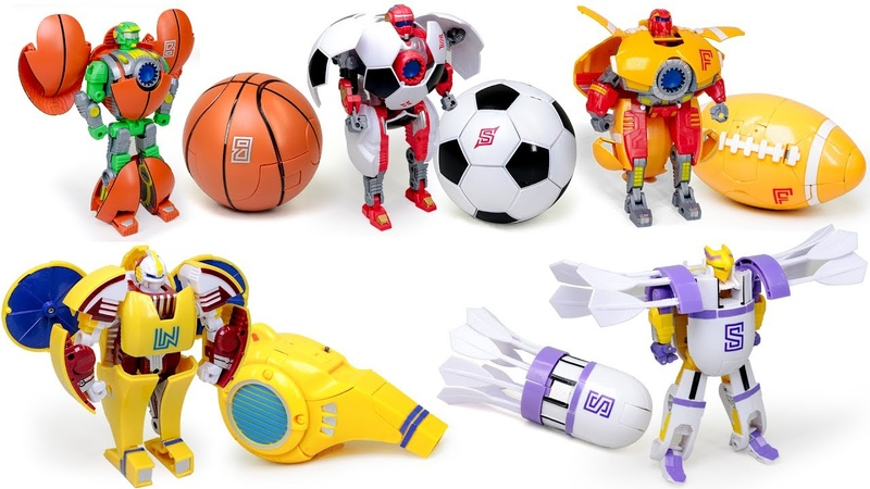 Sports Transformers American Football Soccer ball Basketball Badminton basketball Robots Toys