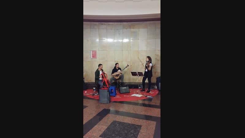 А.Лойко, И.Литвинов, В.Михайлов (скрипка, гитара, электровиолончель). 14.10.2018