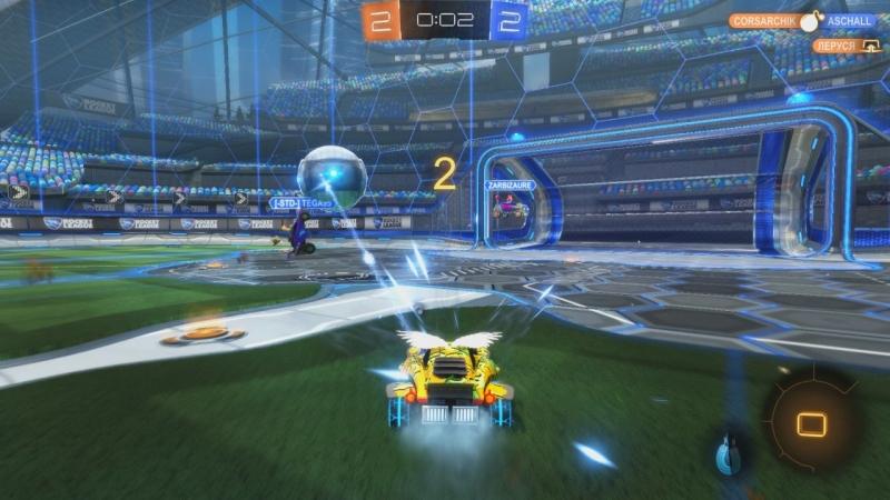 Rocket league - Гол за 1 сек. до конца