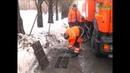 В Самаре городские службы очищают ото льда ливневые решетки