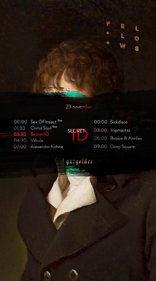 Афиша Москва Secret ID / Gazgolder club