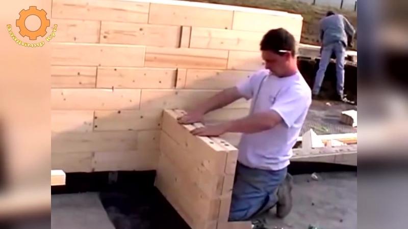 Деревянный кирпич строительство дома