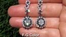 UNIQUE 5.05 Carat Colorless Fancy Black Dangle Vintage Earrings 18k Gold - WATCH IN HD