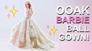 OOAK Metallic Gold Lace BALL GOWN - Barbie Collector