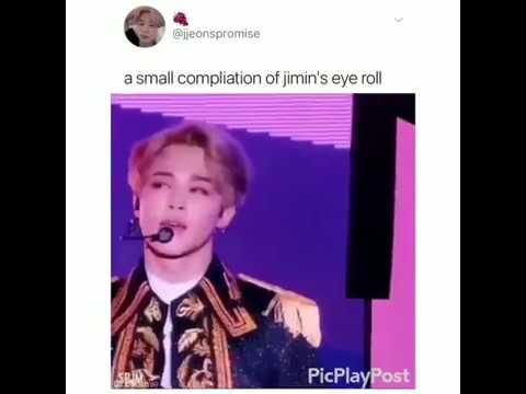 A Small Compilation of BTS Jimin's eye roll