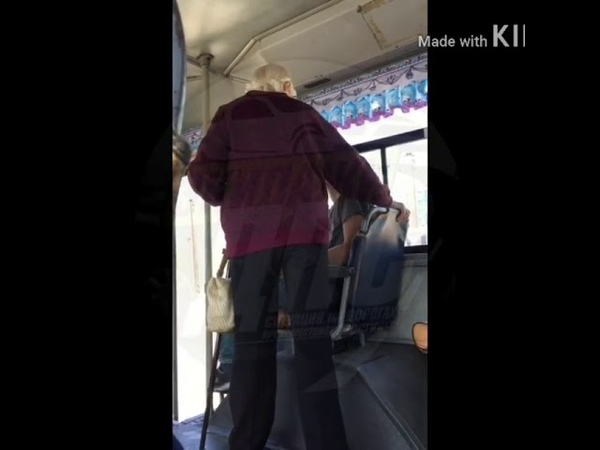 Бабушка напала на парня занявшего место для инвалидов Видео Экипажи Дпс