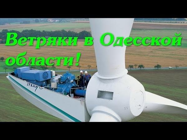 Ветряки в Одесской области. Овидиополь. Черноморск. Энергия ветра. Альтернативная электроэнергия.
