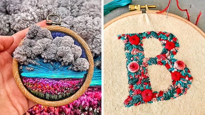 UNBELIEVEABLE SKILLS WITH EMBROIDERY AND CROCHET ART