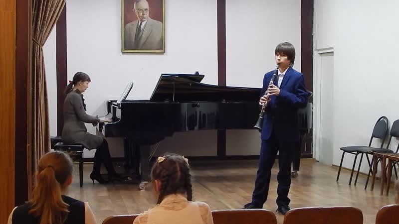 академ.концерт по кларнету.2 класс.