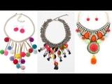 Beautiful Stylish Pompom Necklace Designs - Fancy Jewellery Designs