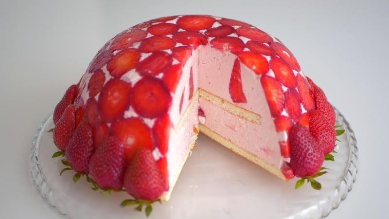 Торт Клубничная горка с йогуртовым муссом Всего 145 ккал в 100 граммах