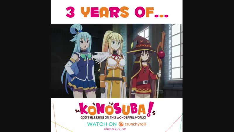 Celebrate 3 Years of Konosuba with this exclusive clip from the upcoming english dub!