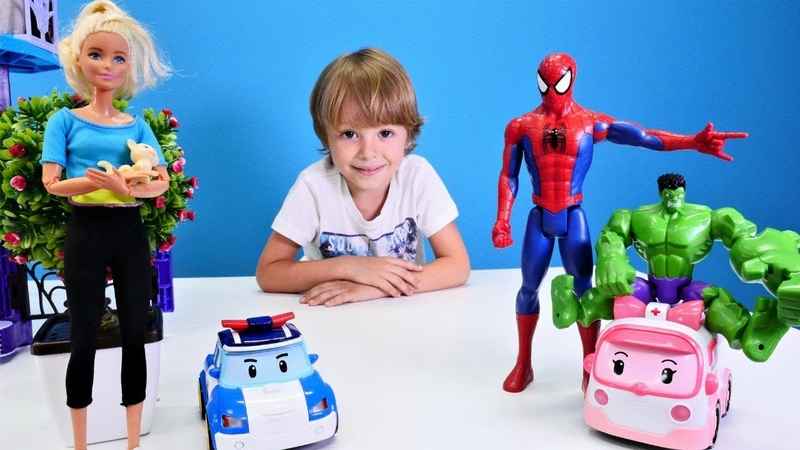 Barbie ve Spiderman oyuncak videoları. Binadaki kediye yardım ediyoruz