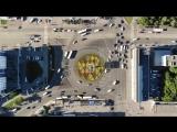 Красивый вид перекрестка сверху Уфа центральный