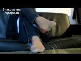 girlfriends stinky flats and tan nylon pantyhose feet (Ножки, Фетиш, Фут, Foot, Fetish, Чулки, Legs, Секси)