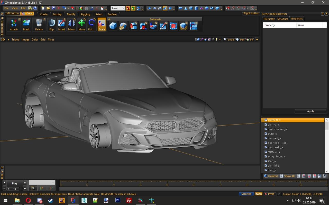 BMW Z4 2019 3D Model