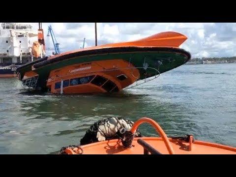Fast Rescue Boat Crash