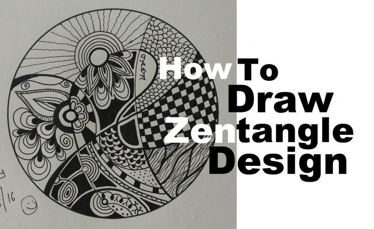 How To Draw Complex Zentangle Art Design For Beginners, Easy Tutorial Doodle Drawing Step By Step