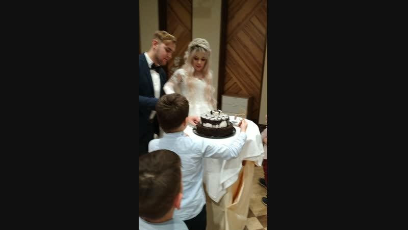 детей разрывает желание съесть свадебный торт!