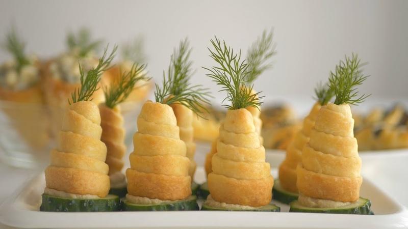 Пирожки закусочные для праздничного стола и фуршета. Три способа формовки