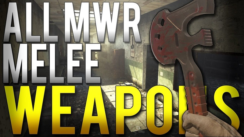 ALL MWR MELEE WEAPONS AND ANIMATIONS - Call of Duty: Modern Warfare Remastered