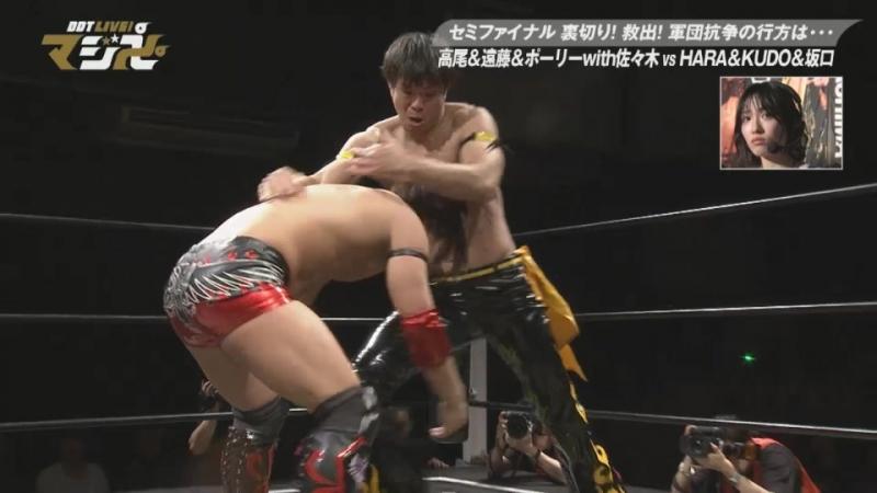 Daisuke Sasaki, Mad Paulie, Soma Takao, Tetsuya Endo vs. KUDO, Masahiro Takanashi, Yukio Sakaguchi, HARASHIMA (DDT Live! Maji Ma