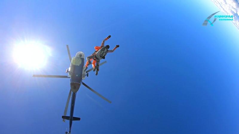 Иностранные гости и прыжки с парашютом в Аэроград Коломна
