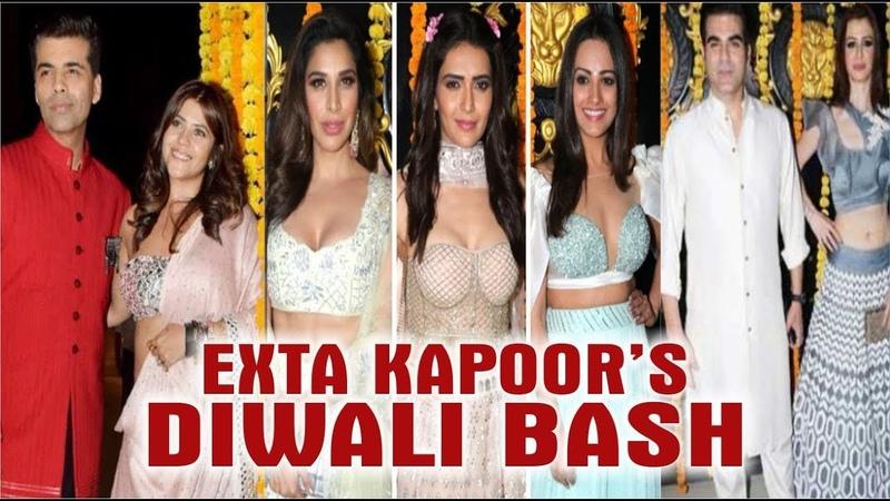 B-Town And TV Celebs AT Ekta Kapoor's Diwali Party 2018 | Shraddha Kapoor | Mouni Roy