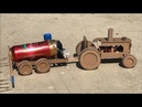 DIY MTZ 1 tractor with mounted sprayer - Cardboard toy