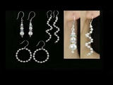 3 Easy DIY Pearl Earrings Wire and Beading Pearl Earrings, Spiral Earrings and Hoop Earrings