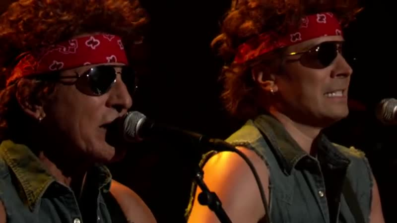 Bruce Springsteen Jimmy Fallon Gov. Christie Traffic Jam ( Born To Run Parody)