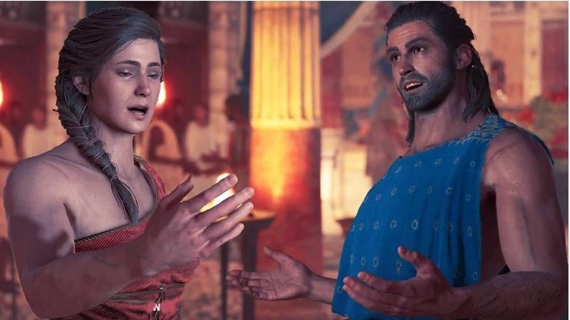 Kassandra Singing vs Alexios Singing - Assassin's Creed Odyssey