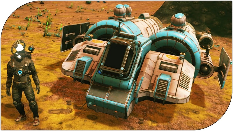 No Man's Sky Запускаю найденный корабль ! Может проще купить НОВЫЙ корабль в ноу мэн скай ?