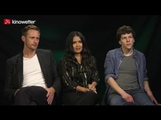 Interview Alexander Skarsgård,  Salma Hayek  und Jesse Eisenberg The Hummingbird Project