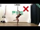 Уроки пол дэнс видео средний уровень Шпагат с удержанием под локтем