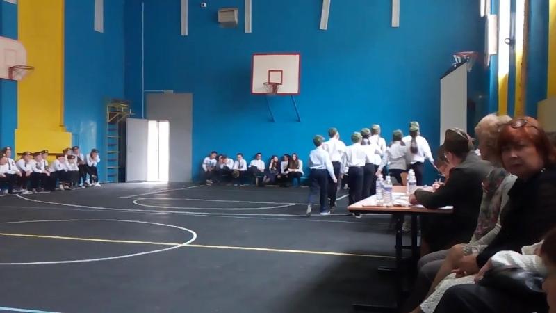 6а, 27 школа, конкурс песни и строя, 2017 2018 учебный год