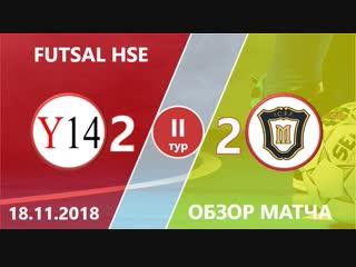 Ya-Generation - Mercurials (2-2) II тур ПЛ ВШЭ по мини-футболу 2018