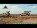 Syrian army using their 'Golan 1000' missile systems in Northern Hama