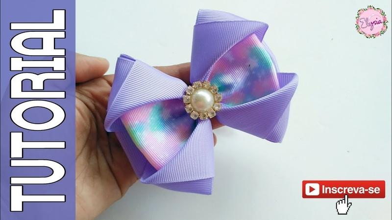 Laço Celia 🎀 Ribbon Bow Tutorial 🎀 DIY by Elysia Handmade