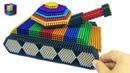 DIY How To Make Tank from 20000 Magnetic Balls ASMR Magnetic Boy 4K