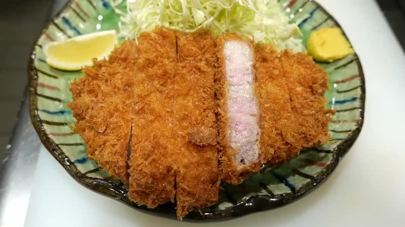 Japanese Food - FRIED PORK CUTLET Tonkatsu Tokyo Japan