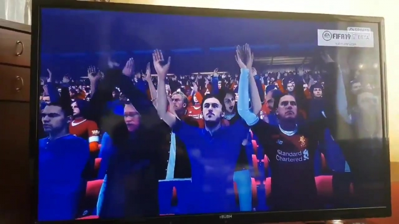 Fifa 19 UCL at Anfield along with YNWA