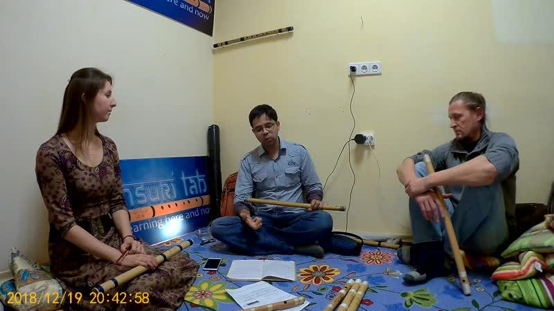 Флейто встреча BansuriLab Paresh Jadhav рассказывает про рагу Бхупали