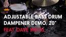 Adjustable Bass Drum Dampener Demo, 20 , ft. Dave Weckl