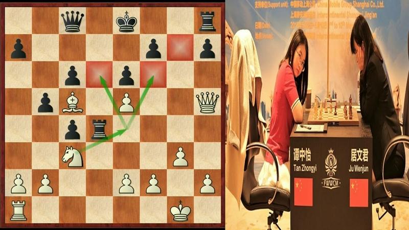 Шахматы. Матч за звание чемпионки мира по шахматам 2018! (Тань Чжунъи- Цзюй Вэньцзюнь)- 3-я партия