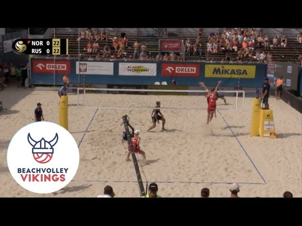 Mol A Sorum NOR Stoyanovskiy RUS 2019 FIVB Warsaw Semi Final crazy third set