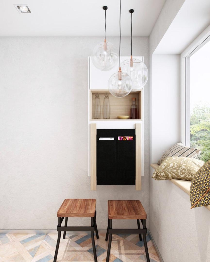 Еще одно решение для очень маленькой кухни
