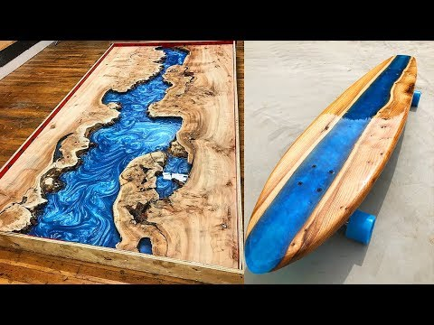 10 MOST Amazing Epoxy Resin and Wood River Table Awesome DIY Woodworking Projects and Products