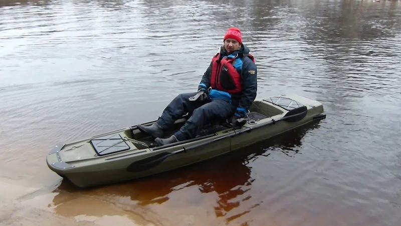 Каяк KingFisher с педальным приводом на гребной винт от компании Point 65 Швеция