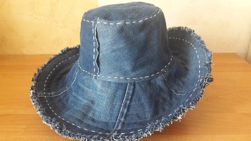 Как сшить шляпу из джинс